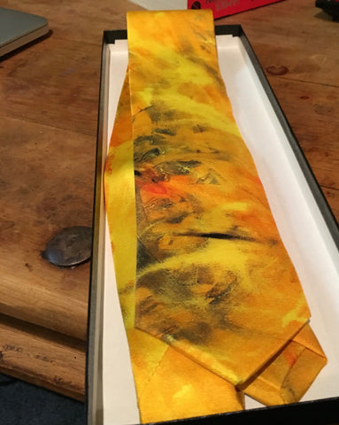 Silk Ties, Made in Italy, Solid Gold