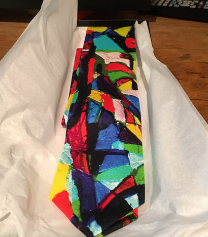 Silk Ties, Made in Italy, Stained Glass