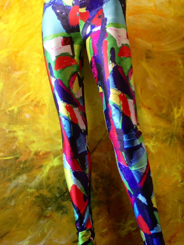 Planet Freddo Leggings Stained Glass
