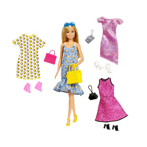 Barbie Doll & Party Fashions Set, Standard GDJ40