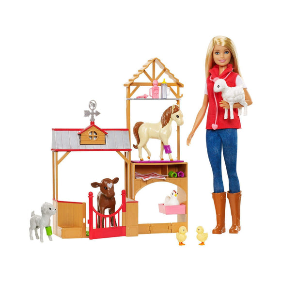 Barbie Sweet Orchard Farm Doll and Barn Playset GCK86