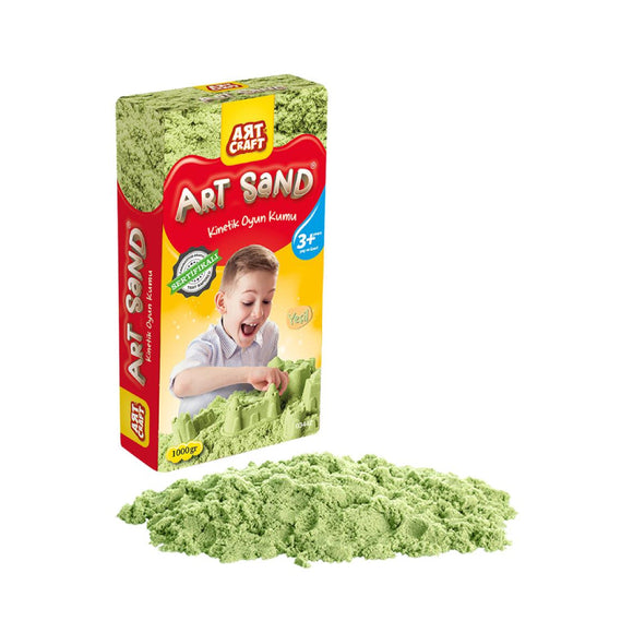 DEDE ART CRAFT GREEN KINETIC PLAY SAND (1000gr) 3442