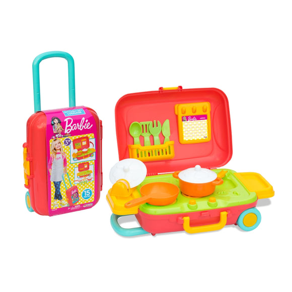 DEDE BARBIE KITCHEN SET LUGGAGE 3478