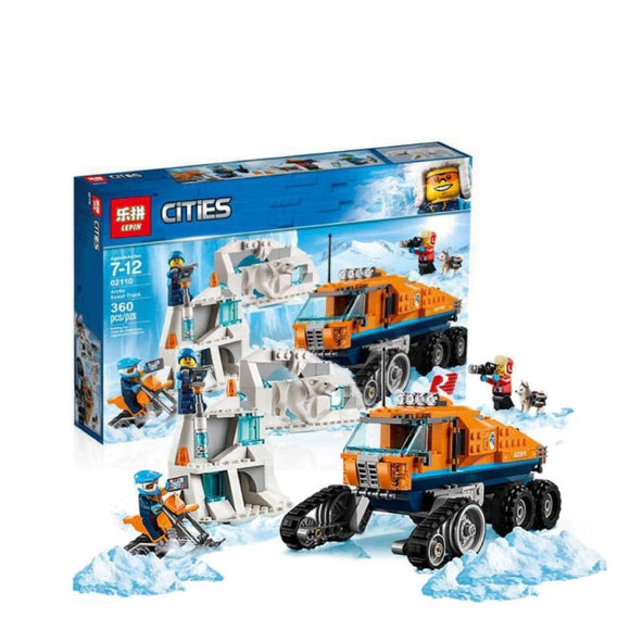 Lepin Cities Series Arctic Scout Truck Blocks 360 Pcs 02110
