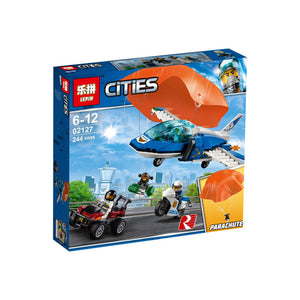 Lepin Cities Series Sky Police Parachute Arrest Blocks 245 Pcs 02127