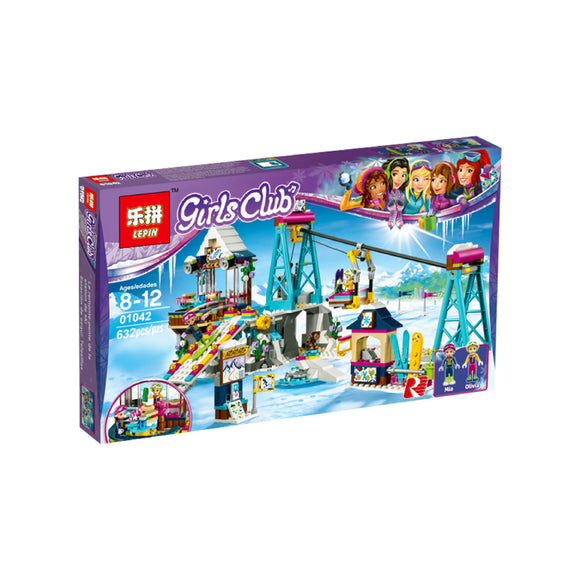 Lepin Girl Club Series Snow Resort Ski Lift Building Blocks set 632 Pcs 01042