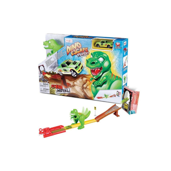 Maisto Fresh Metal Dino Playset with One Vehicle 11063