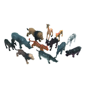 NATIONAL GEOGRAPHIC SAFARI ANIMALS SMALL 4-8CM 12 PC IN TUBE NCD06002