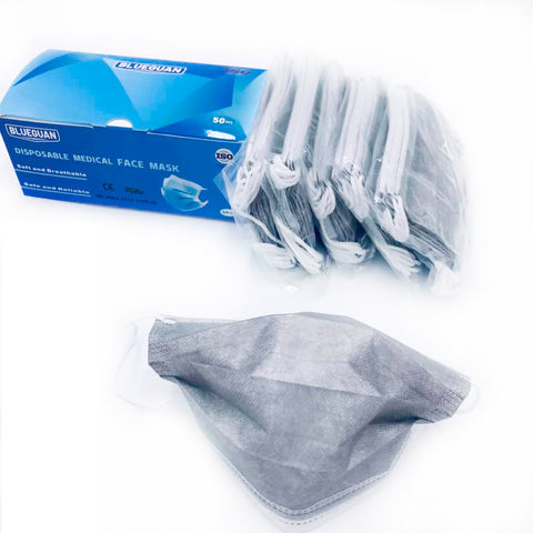 FDA / CE approved Disposable Medical Face Mask, 3 Layers, 50pcs/box,Grey  www.betterlifemart.com