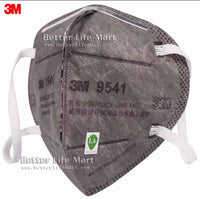 3M 9541 KN95 Particulate Respirator Face Mask, Nuisance Level Organic Vapor Relief , Activated Carbon,Elastic Earloop, No Valve, On FDA EUA list for Covid 19 protection, individually sealed,