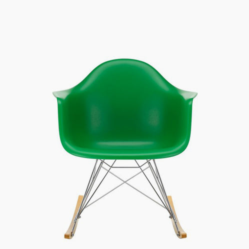 Eames Plastic Armchair RAR Rocking Chair Chromed