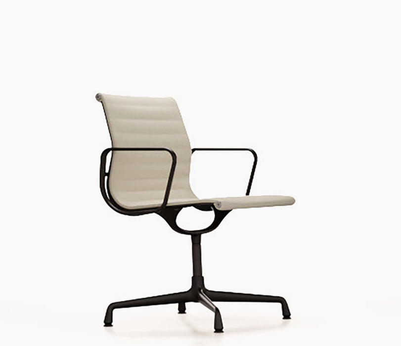 Aluminium Chair EA 103 Premium Leather / Black