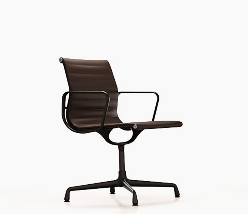Aluminium Chair EA 104 Leather / Black