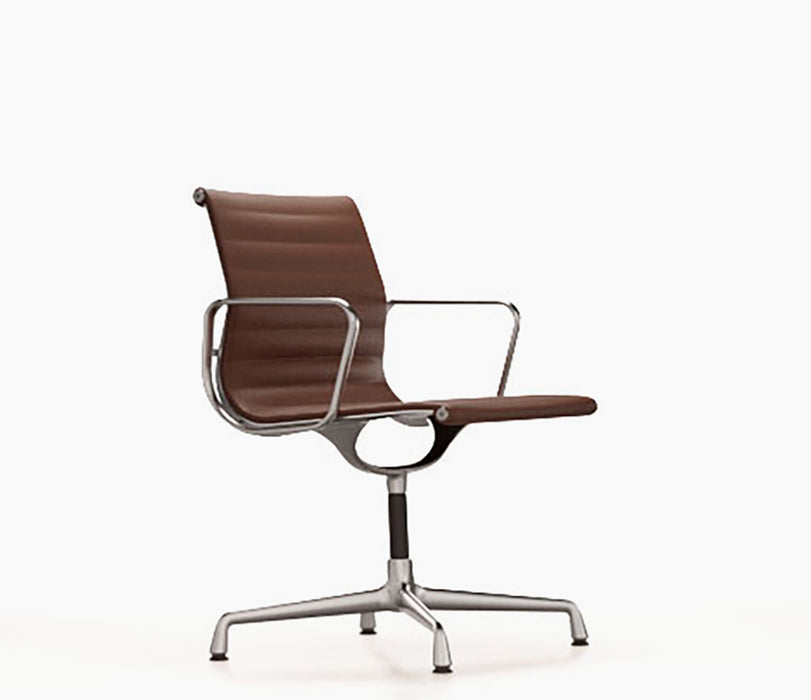 Aluminium Chair EA 104 Leather / Polished