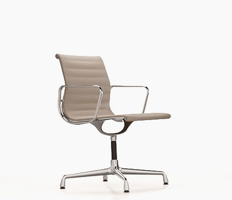 Aluminium Chair EA 104 Leather / Chromed