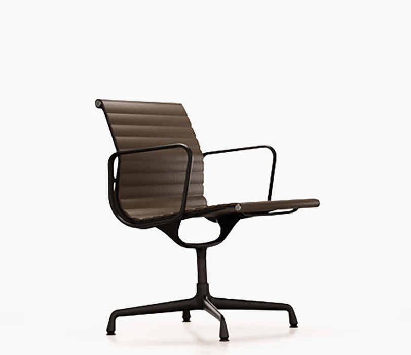 Aluminium Chair EA 107 Leather / Black