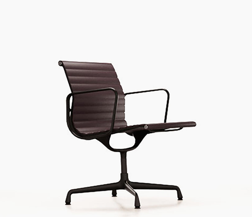 Aluminium Chair EA 107 Premium Leather / Black