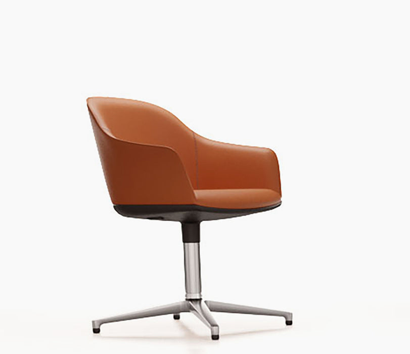 Softshell Chair Leather With Seam Four Star Base