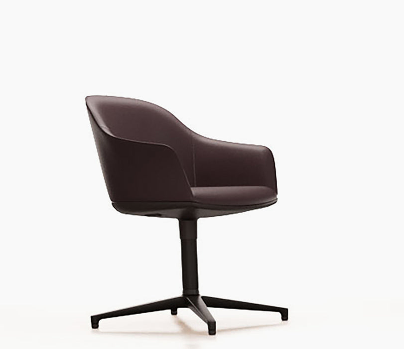 Softshell Chair Leather Premium With Seam Four Star Base
