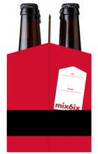 Load image into Gallery viewer, Cardboard Carrier | Mix 6ix Santa 12oz Bottle Carrier | 150 Pack
