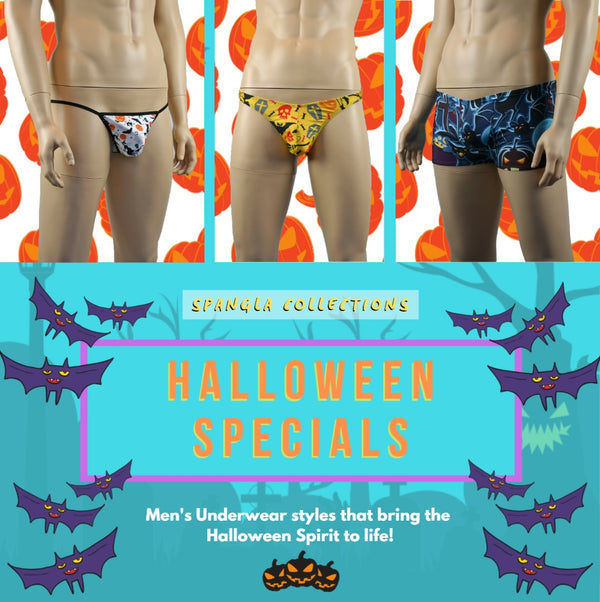 Spangla Collections Invoke the Halloween Spirit with these Mens Halloween Print Underwear!