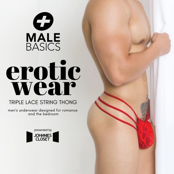 Male Basics' Lace Underwear for Men has a Triple (String) Treat!