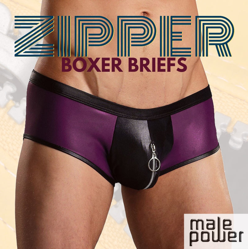 Zip it Up, Zip it Good, Zip it Just Like You Should with the Male Power Zipper Shorts!