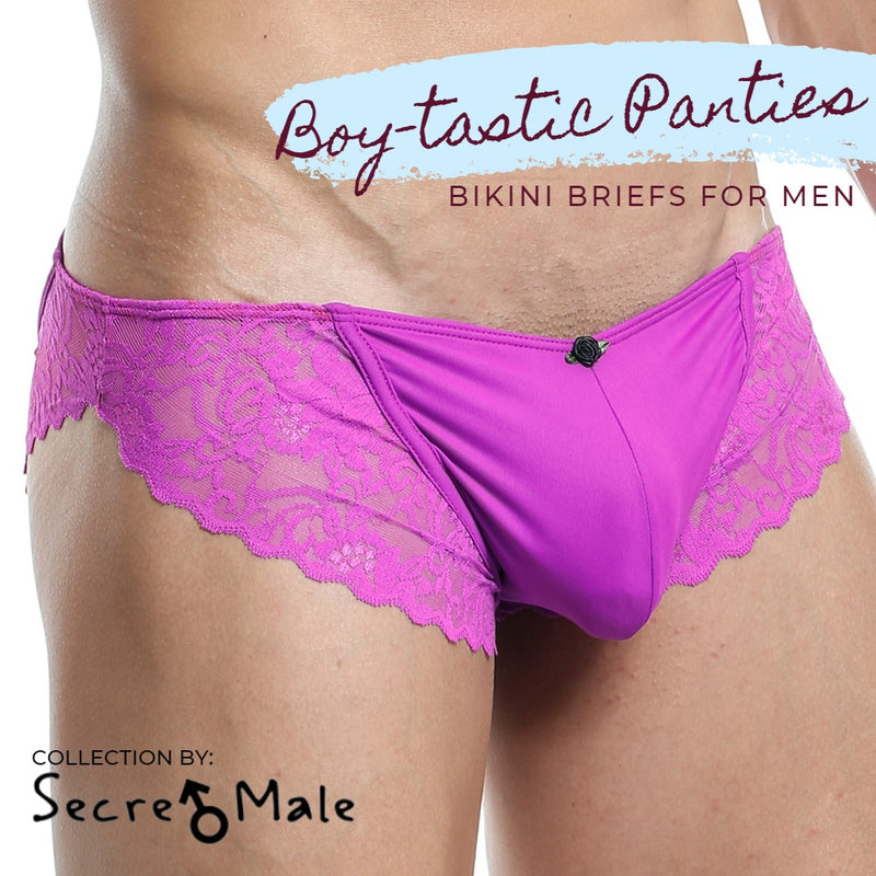 Get Into These Boy-tastic Panties for Men Presented by Secret Male!