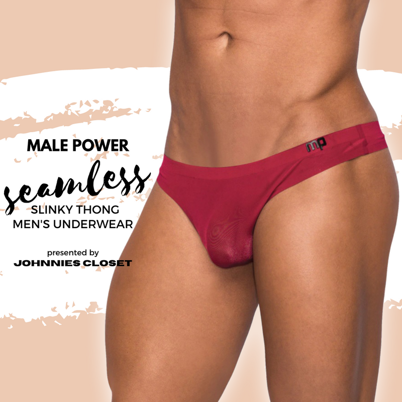 The Slim, Silky and Sexy Feel of the Male Power Seamless Pouch Thong