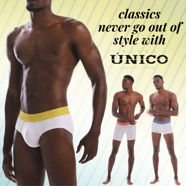 Classics Never Go Out of Style with the Unico Men's Underwear Collection