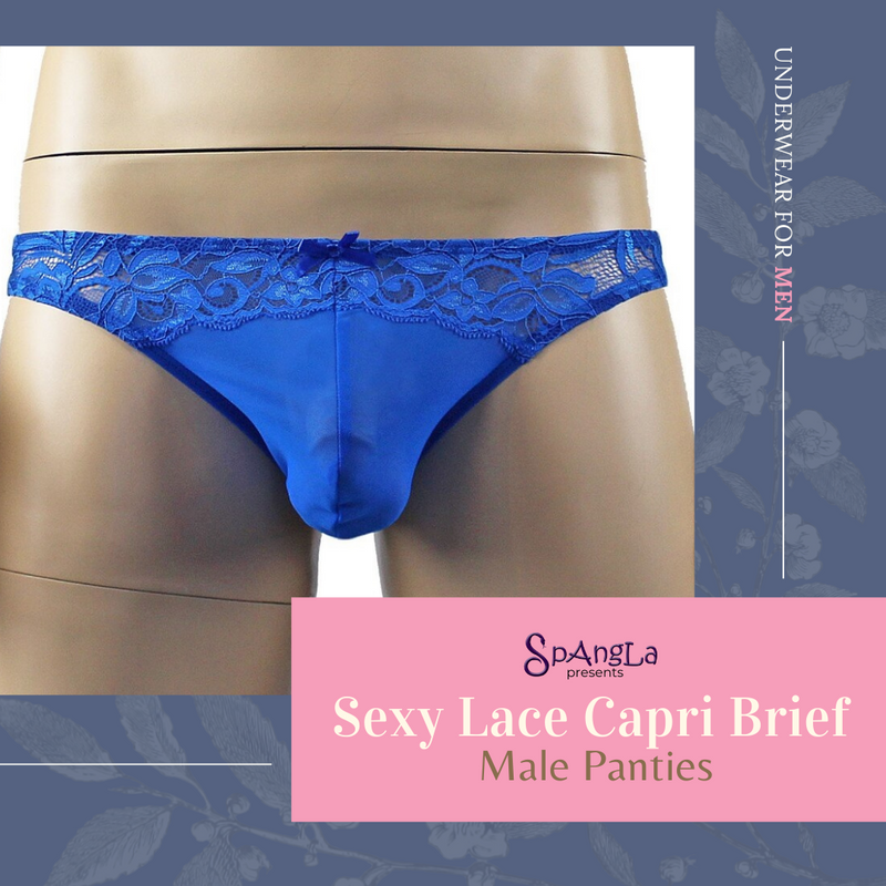 The Blissful Experience of Wearing a Spangla Sexy Lace Capri Brief