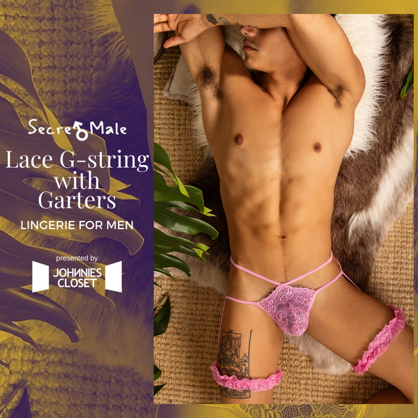 Hyper Feminine Seduction as Presented by this Secret Male Lace G-string!