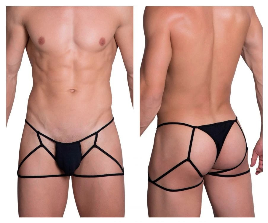 Hidden Seduction 971 Jockstrap Thong Mens Underwear Black Johnnies Closet