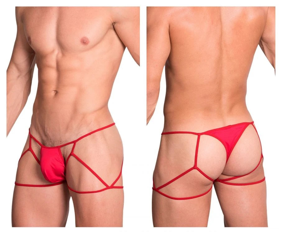 Hidden Seduction 971 Jockstrap Thong Mens Underwear Red Johnnies Closet