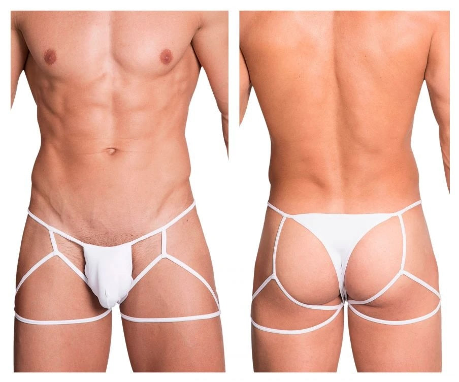 Hidden Seduction 971 Jockstrap Thong Mens Underwear White Johnnies Closet