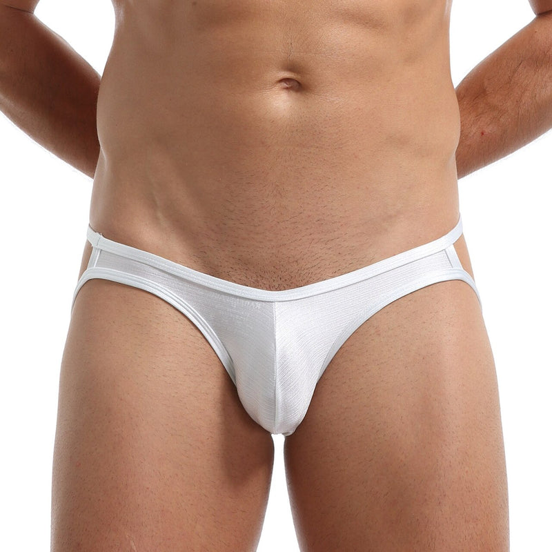 Mens Soft and Silky Comfortable Poly Jock Strap White
