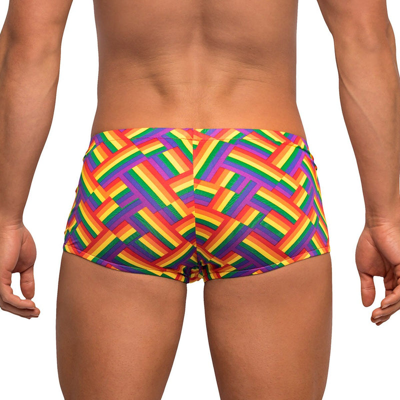 Mens Gay Pride Rainbow Mini Shorts