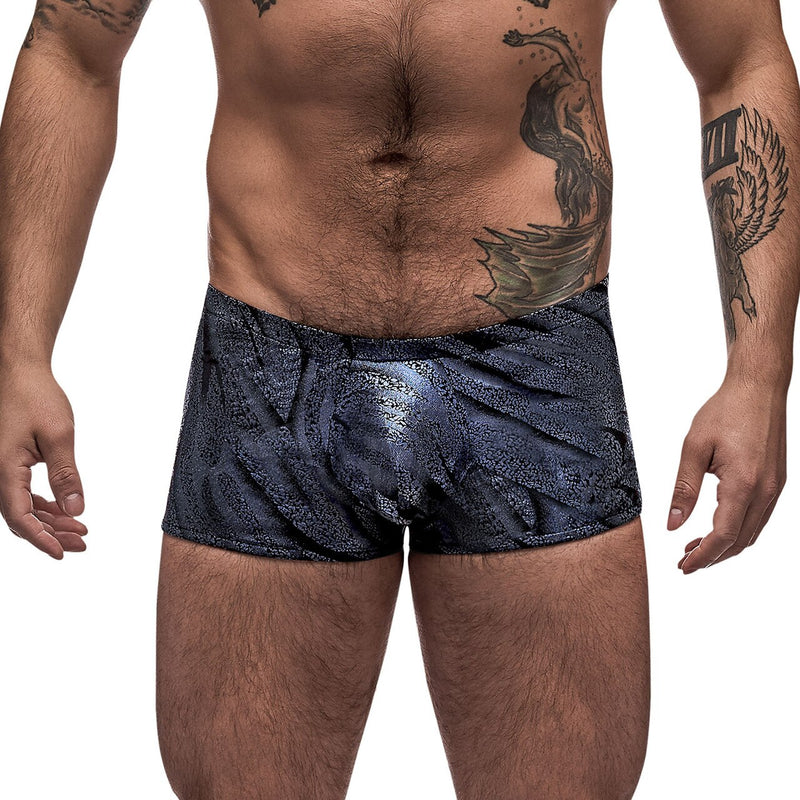 Mens Blue Streak Mini Shorts Blue and Black