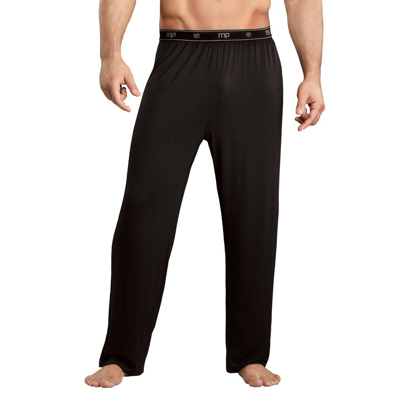 Mens Bamboo Long PJ Pants Black