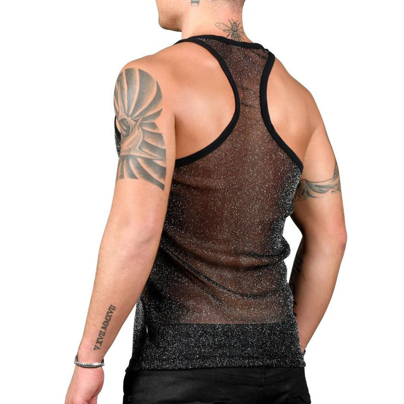 Mens Andrew Christian Sheer Sparkle Tank