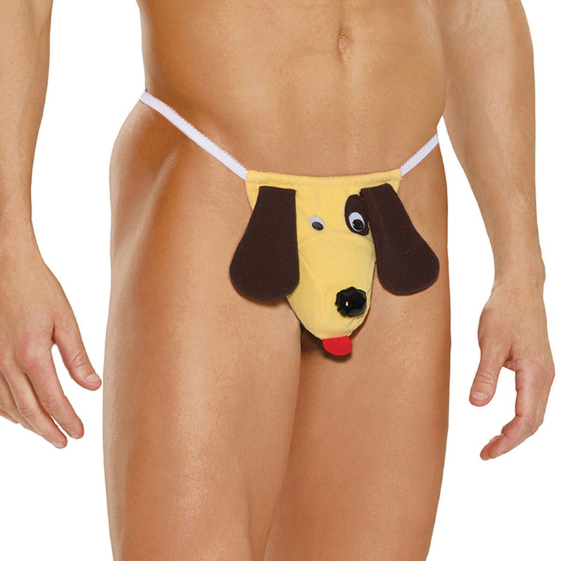 Mens Dog Pouch G string Novelty Underwear