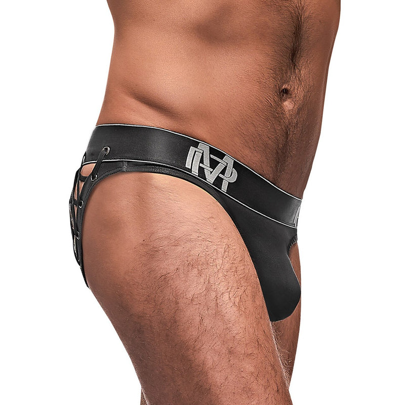 Mens Black Ice Moonshine Lace Up Brief
