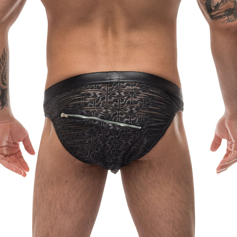 Mens Zip Pouch Bikini Brief