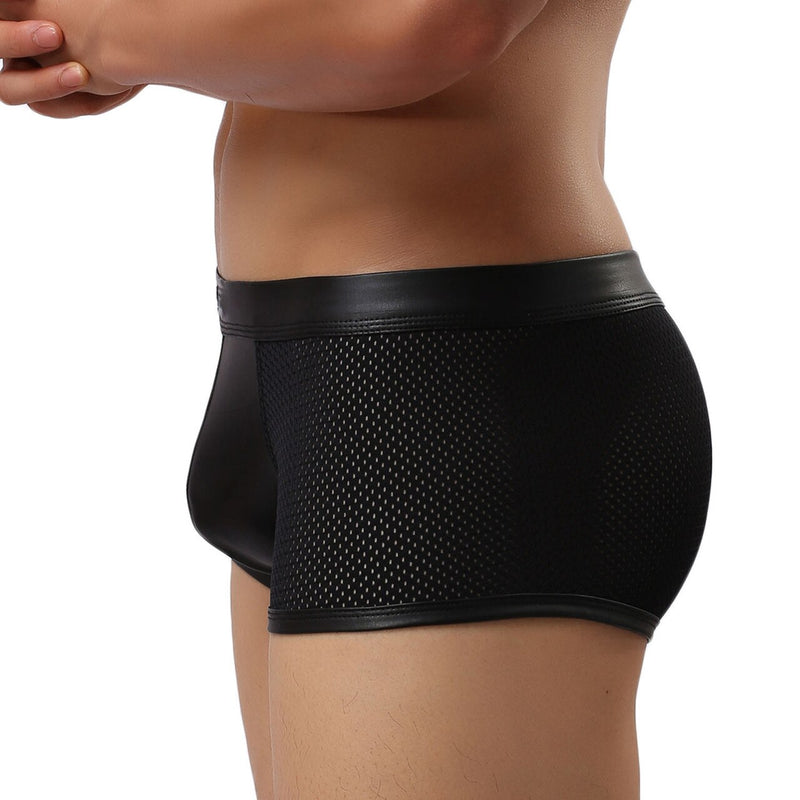 Mens Wetlook and Stretch Net Boxer Shorts