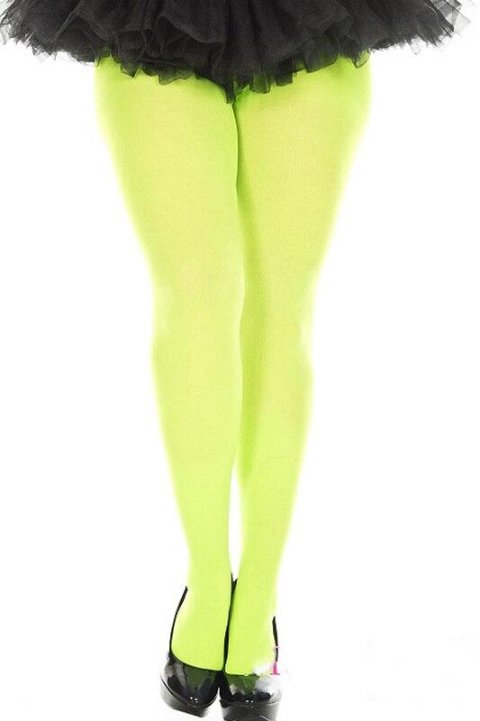 Unisex Ultra Strong Opaque Tights Neon Lime