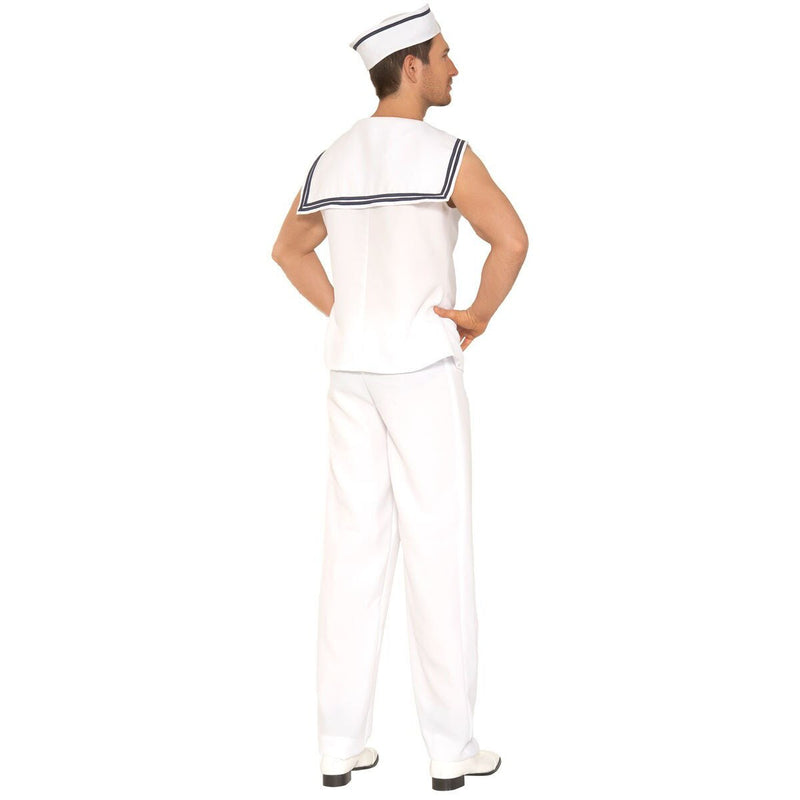Mens Navy Sailor Costume White