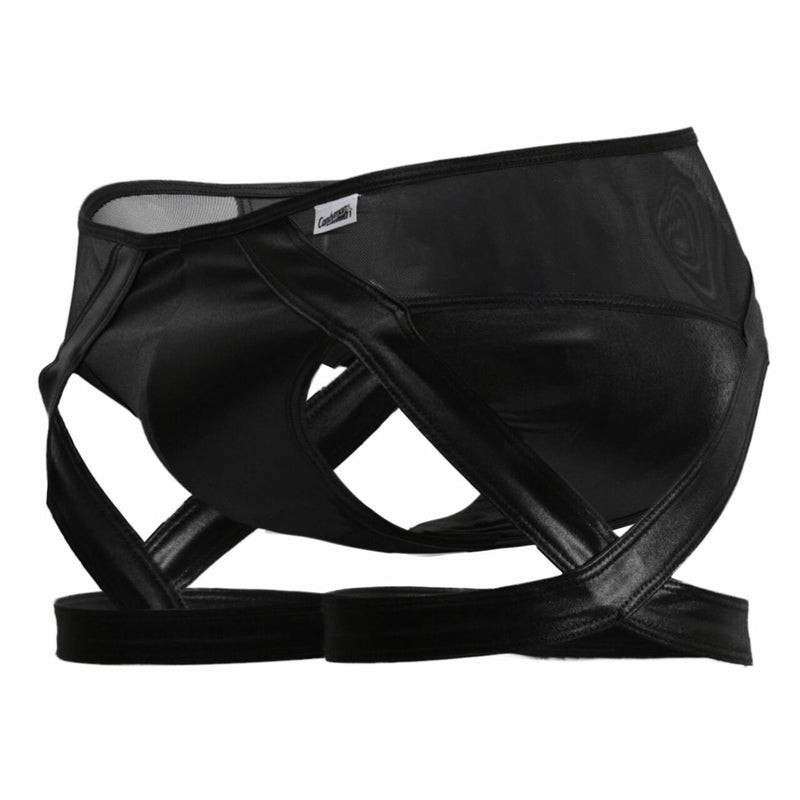Mens Gartered Briefs Black