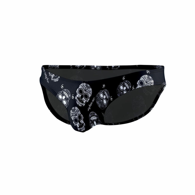 Mens Joe Snyder Polyester Bikini Brief Skulls