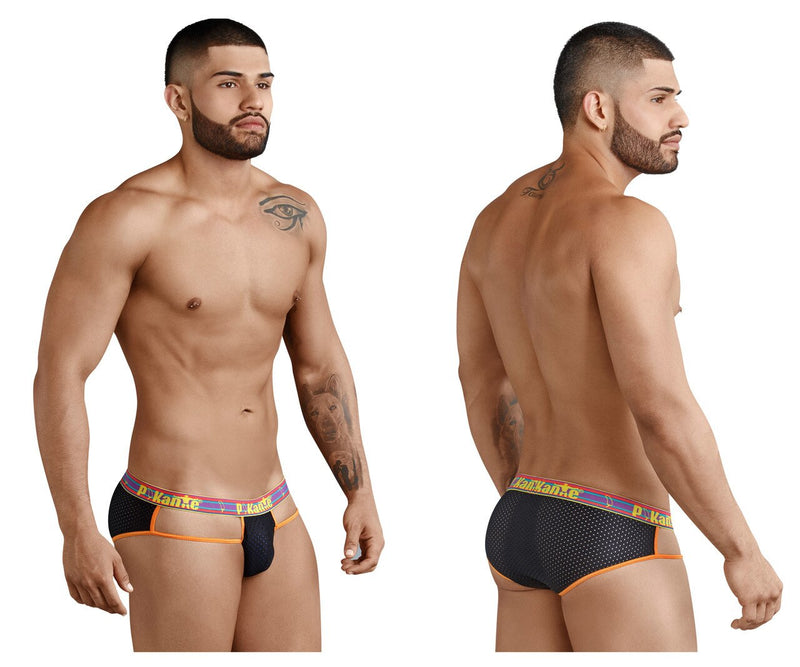 Mens Pikante Bikini Brief with Strap Sides Black