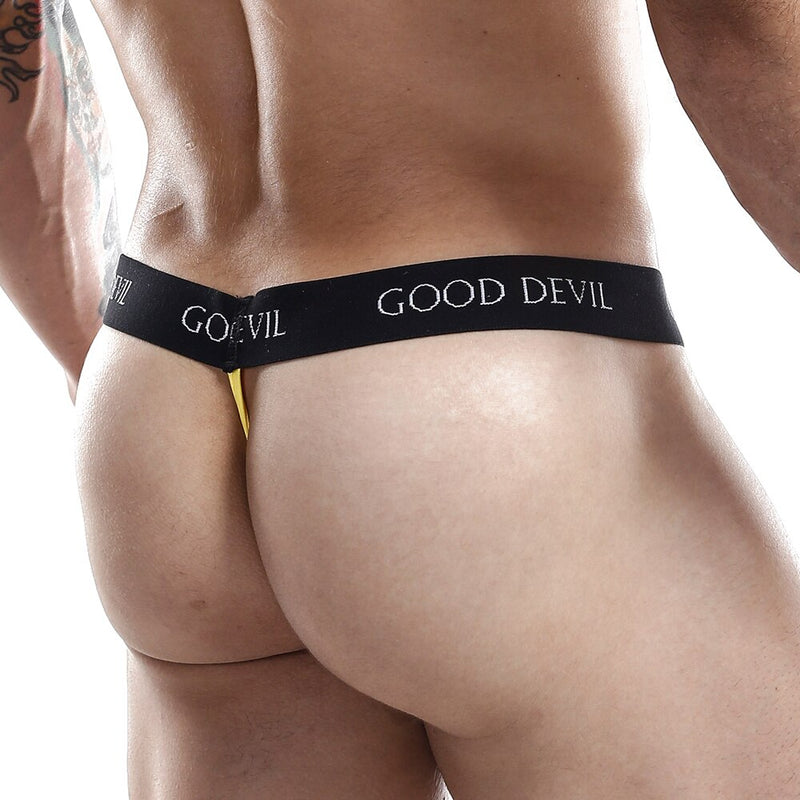 Mens Good Devil Shaft Thong Black